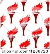 Clipart Of A Seamless Background Pattern Of Red Torches 3 Royalty Free Vector Illustration by Seamartini Graphics