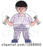 Clipart Of A Woman Working Out With Dumbbells Royalty Free Vector Illustration by Lal Perera