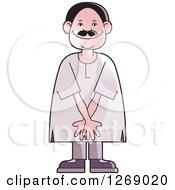 Clipart Of A Senior Man Acting Shy Royalty Free Vector Illustration by Lal Perera