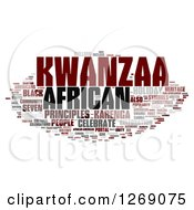Clipart Of A Brown And Gray Kwanzaa Word Tag Collage On White Royalty Free Illustration