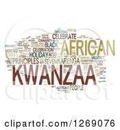 Clipart Of A Green And Brown Kwanzaa Word Tag Collage On White Royalty Free Illustration