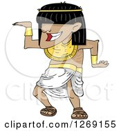 Clipart Of An Ancient Egyptian Man Dancing Royalty Free Vector Illustration by BNP Design Studio