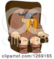 Male Viking Leader Sitting In A Chair