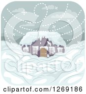 Royalty-Free (RF) Snowstorm Clipart, Illustrations, Vector Graphics #1