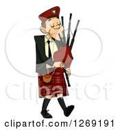 Clipart Of A Scottish Man Playing Bagpipes Royalty Free Vector Illustration #1269191 by BNP Design Studio
