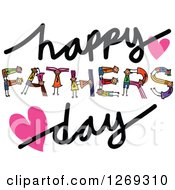 Clipart Of Alphabet Stick Children Forming A Word In Happy Fathers Day Royalty Free Vector Illustration
