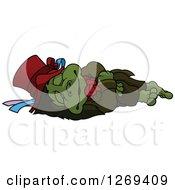 Sleeping Cartoon Water Goblin