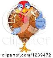 Cute Thanksgiving Turkey Bird Giving A Thumb Up