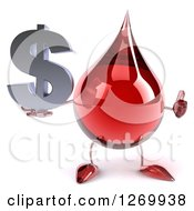 Clipart Of A 3d Hot Water Or Blood Drop Mascot Holding A Thumb Up And Dollar Symbol Royalty Free Illustration
