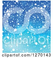 Clipart Of A Blue Christmas Snow Background Royalty Free Vector Illustration by visekart