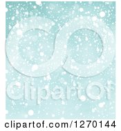 Clipart Of A Christmas Snow Background Royalty Free Vector Illustration