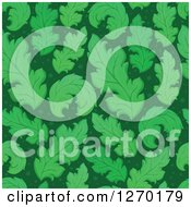 Clipart Of A Seamless Green Leaf Background Pattern Royalty Free Vector Illustration by visekart