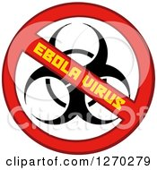 Clipart Of A No Ebola Virus Biohazard Sign Royalty Free Vector Illustration by Hit Toon