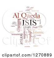 Clipart Of A Brown And Orange ISIS And Al Qaeda Word Collage On White Royalty Free Illustration