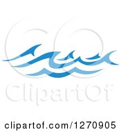 Clipart Of A Blue Ocean Surf Waves 22 Royalty Free Vector Illustration