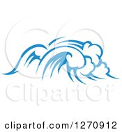 Clipart Of A Blue Ocean Surf Waves 26 Royalty Free Vector Illustration