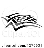 Black And White Tribal Checkered Racing Flag 3