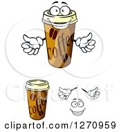Clipart Of Take Out Coffee Cups Royalty Free Vector Illustration