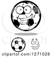 Soccer Balls And A Face