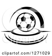Black And White Soccer Ball With Swooshes