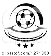 Black And White Soccer Ball With Swooshes And Stars