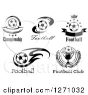 Black And White Soccer Ball Designs With Text