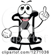Soccer Ball Number One Character Holding Up A Finger