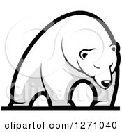 Clipart Of A Grayscale Standing Polar Bear Royalty Free Vector Illustration by Seamartini Graphics