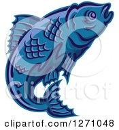 Swimming Blue Fish