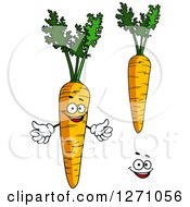 Clipart Of Carrots And A Face Royalty Free Vector Illustration
