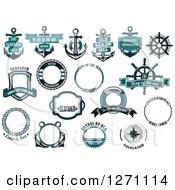 Clipart Of Nautical Designs Royalty Free Vector Illustration by Vector Tradition SM