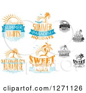 Clipart Of Sun And Island Summer Designs Royalty Free Vector Illustration by Vector Tradition SM