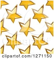 Clipart Of A Seamless Background Pattern Of Gold Stars Royalty Free Vector Illustration