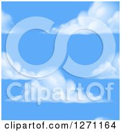 Blue Sky And Puffy Cloud Seamless Background Pattern