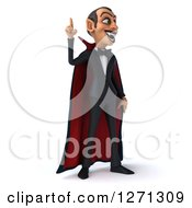 Clipart Of A 3d Dracula Vampire Facing Slightly Right And Pointing Upwards Royalty Free Illustration by Julos