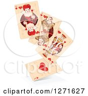 Clipart Of A Floating Stack Of Distressed Playing Cards Royalty Free Vector Illustration by Pushkin