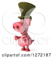 Clipart Of A 3d Happy Irish Pig Facing To The Left Royalty Free Illustration by Julos