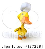 Clipart Of A 3d Yellow Chef Duck Pointing At You Royalty Free Illustration