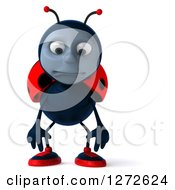 Clipart Of A 3d Sad Pouting Ladybug Royalty Free Illustration by Julos