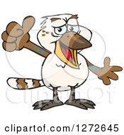 Clipart Of A Happy Kookaburra Bird Giving A Thumb Up Royalty Free Vector Illustration by Dennis Holmes Designs