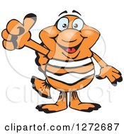 Clipart Of A Happy Clownfish Giving A Thumb Up Royalty Free Vector Illustration by Dennis Holmes Designs
