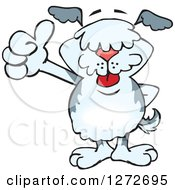 Clipart Of A Happy Old English Sheepdog Giving A Thumb Up Royalty Free Vector Illustration by Dennis Holmes Designs