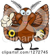 Clipart Of A Happy Moth Giving A Thumb Up Royalty Free Vector Illustration
