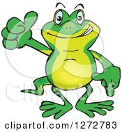 Clipart Of A Happy Gecko Giving A Thumb Up Royalty Free Vector Illustration by Dennis Holmes Designs