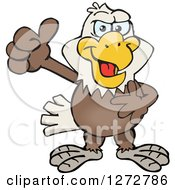 Clipart Of A Happy Bald Eagle Giving A Thumb Up Royalty Free Vector Illustration