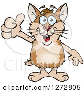 Clipart Of A Happy Hamster Giving A Thumb Up Royalty Free Vector Illustration by Dennis Holmes Designs