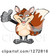 Clipart Of A Happy Fox Giving A Thumb Up Royalty Free Vector Illustration by Dennis Holmes Designs