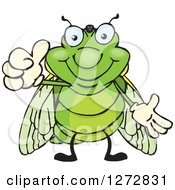 Clipart Of A Happy Cicada Giving A Thumb Up Royalty Free Vector Illustration by Dennis Holmes Designs