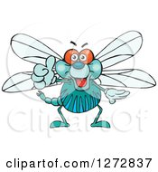 Clipart Of A Happy Dragonfly Giving A Thumb Up Royalty Free Vector Illustration by Dennis Holmes Designs
