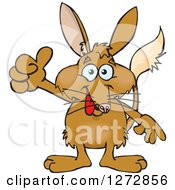 Clipart Of A Happy Bilby Giving A Thumb Up Royalty Free Vector Illustration by Dennis Holmes Designs
